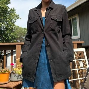 Black Gap Button up Trench Coat style Jacket